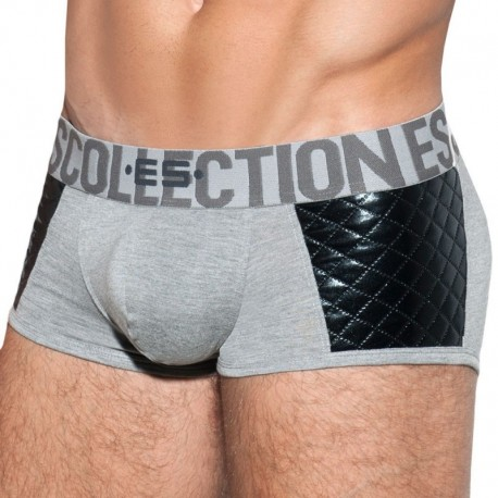 ES Collection Dystopia Quilted Boxer - Grey