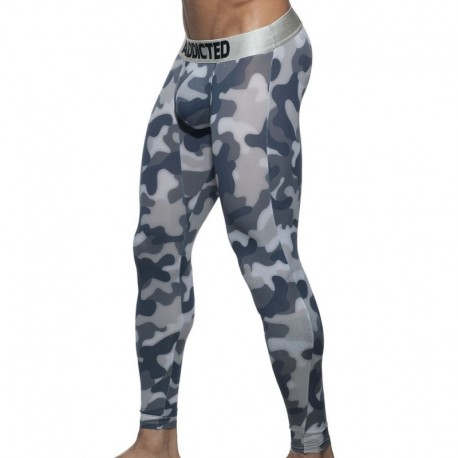Addicted Camo Long John - Grey