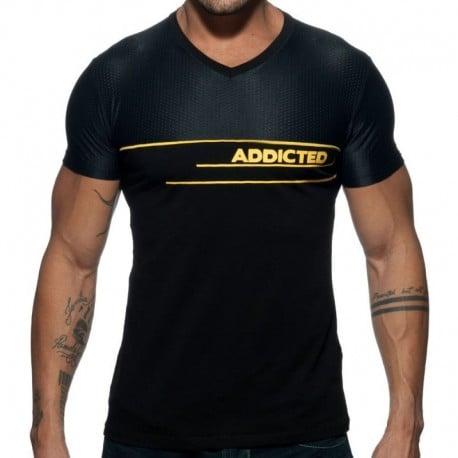 Addicted T-Shirt AD Mesh Noir
