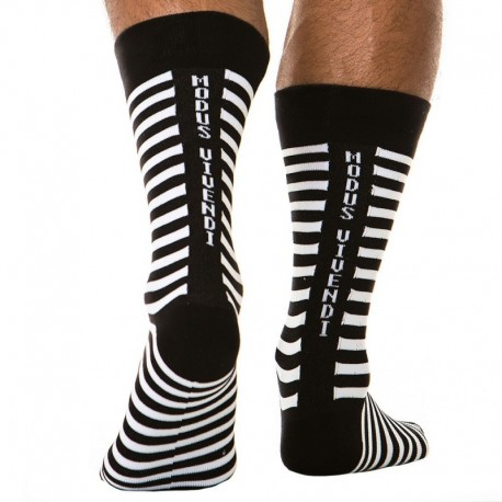 Modus Vivendi Striped Socks - Black