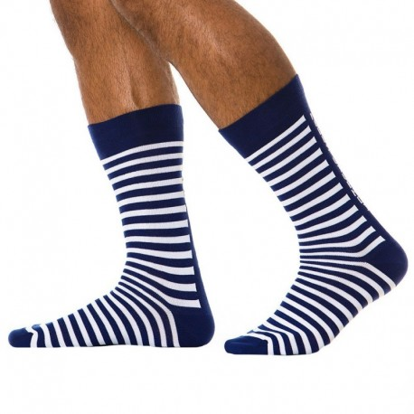 Modus Vivendi Striped Socks - Blue