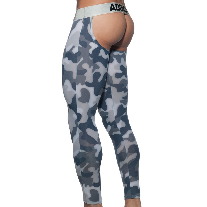 Addicted Calecon Long Empty Bottom - Camo Gris