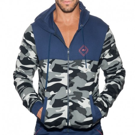 Addicted Veste Sport Camo Marine