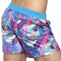 ES Collection Short de Bain Leaves Bleu