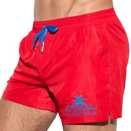 ES Collection Short de Bain Basic Rouge