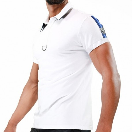 TOF Paris Polo Smart Blanc - Bleu