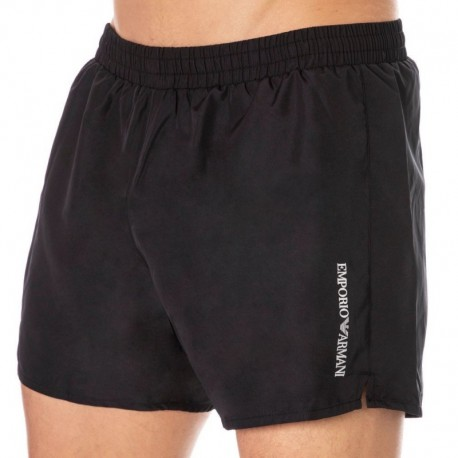 Emporio Armani Short de Bain Iconic Ultra Light Noir