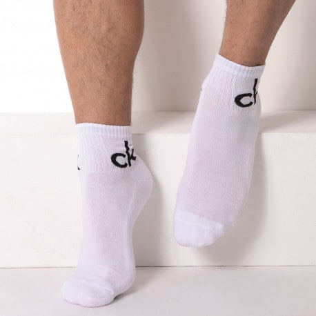 Calvin Klein 3-Pack Jason Bobby Socks - White
