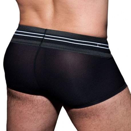 AD Fetish Double Stripe Boxer - Black - White
