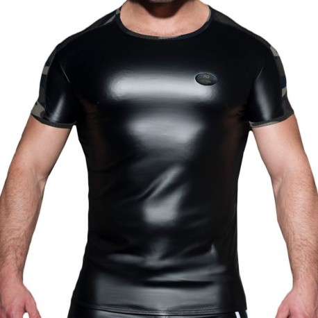 AD Fetish Rub Mesh T-Shirt - Black - Camo