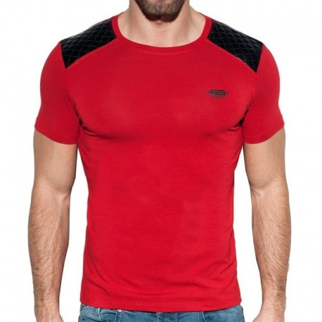 ES Collection T-Shirt Dystopia Quilted Rouge