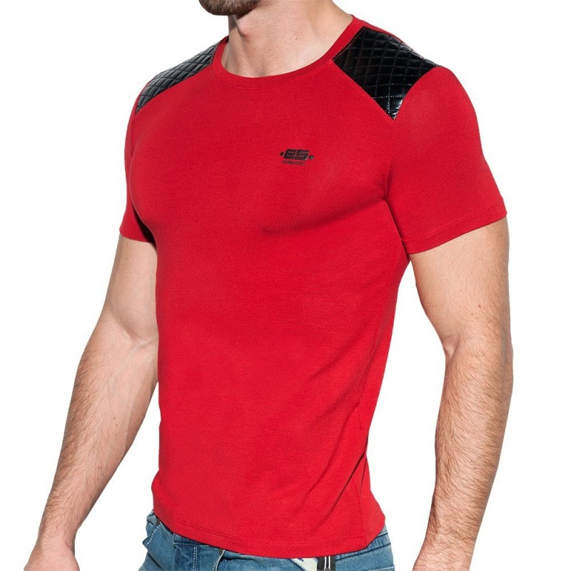 ES Collection Dystopia Quilted T-Shirt - Red