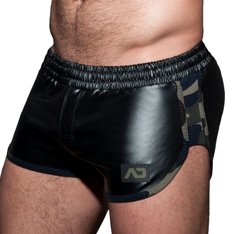 AD Fetish Short Rocky Double Side Noir - Camouflage