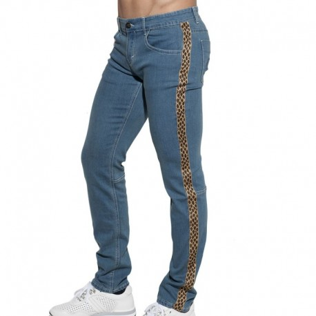 Addicted Jeans Leopard Tape Indigo