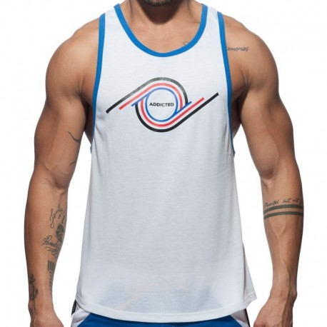 Addicted 69 Tank Top - White