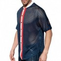 ES Collection Chemise Open Mesh Marine