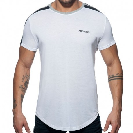 Addicted T-Shirt Raglan Blanc