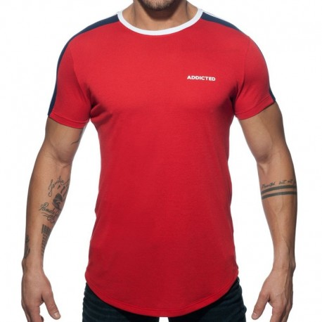 Addicted Raglan T-Shirt - Red