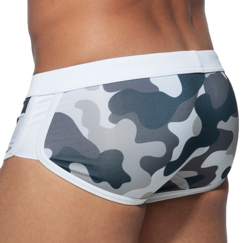 ES Collection Shorty de Bain Marais Camouflage Gris