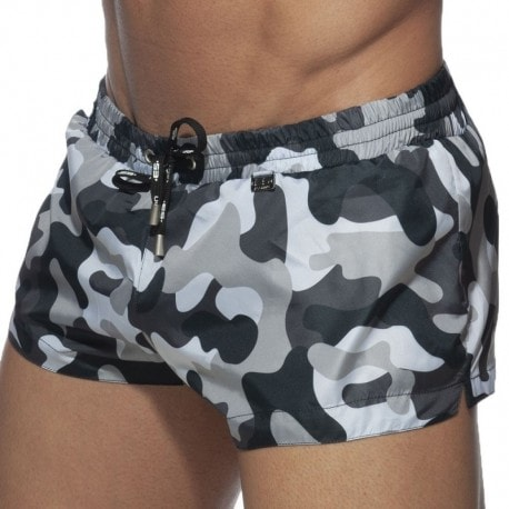 ES Collection Short de Bain Camouflage Gris