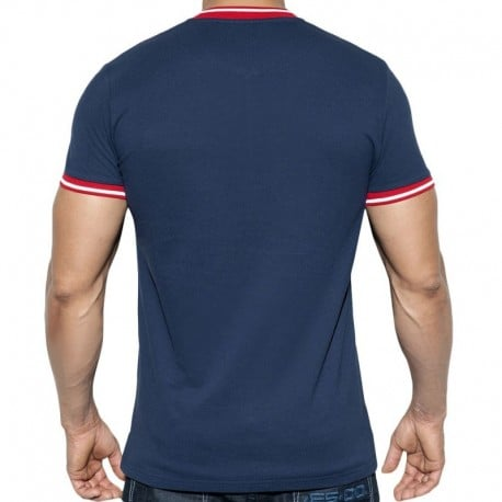 ES Collection T-Shirt Zip Mao Marine
