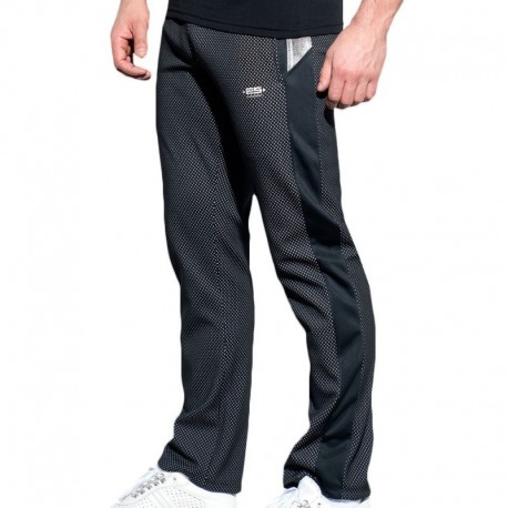 ES Collection Pantalon Mesh Metallic Marine - Argent