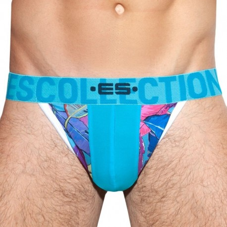 ES Collection Leaves Combi Thong - Turquoise