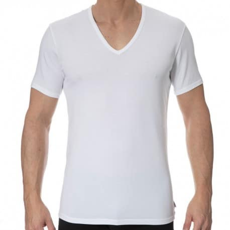 Calvin Klein Lot de 2 T-Shirts Modern Cotton Stretch Blancs