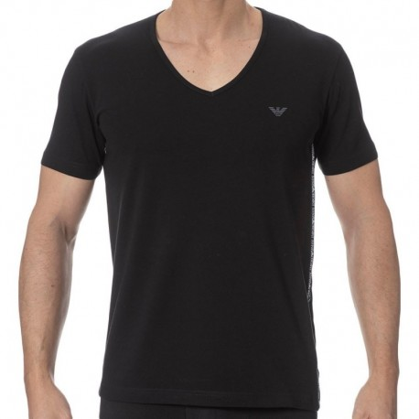 Emporio Armani Color Block T-Shirt - Black
