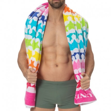 Sundek Rainbow Stars Beach Towel