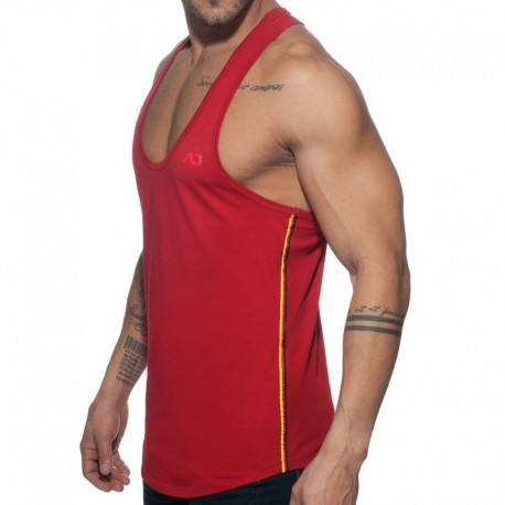 Addicted Flags Tape Tank Top - Red