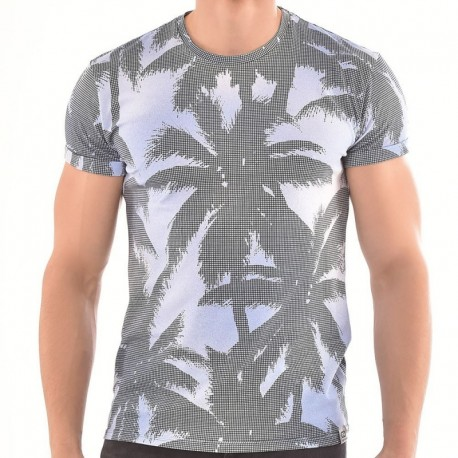 Roberto Lucca Palm T-Shirt - Blue