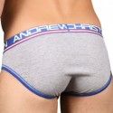 Andrew Christian Slip Almost Naked Cotton Gris Chiné