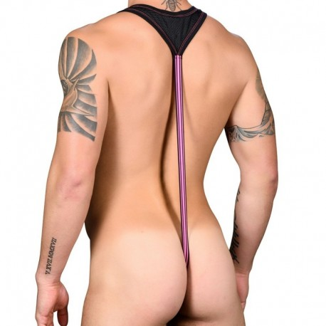 Andrew Christian Body String Almost Naked Strap Mesh Noir