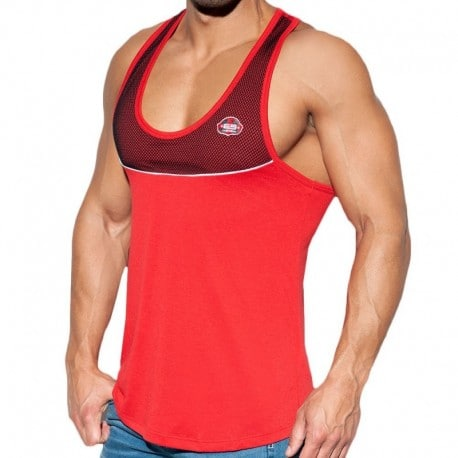 ES Collection Combi Mesh Tank Top - Red