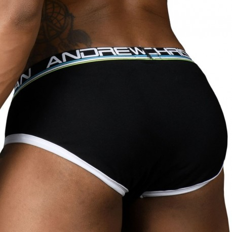 Andrew Christian Active Shape Brief with Bubble Butt Pads - Black