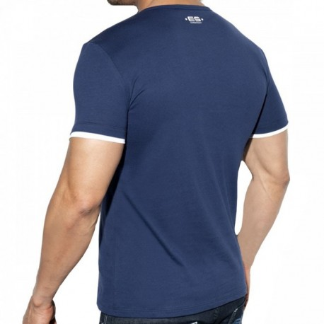 ES Collection T-Shirt Double Neck Marine