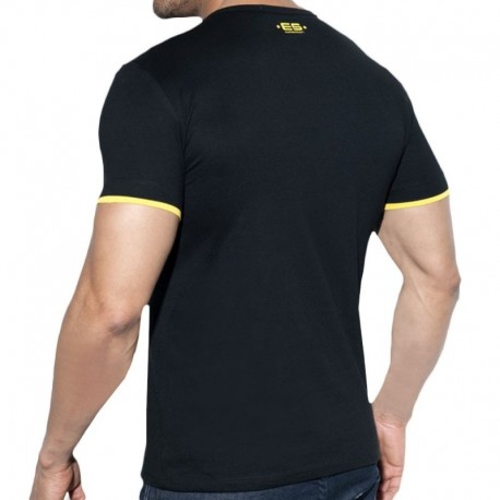 ES Collection T-Shirt Double Neck Noir