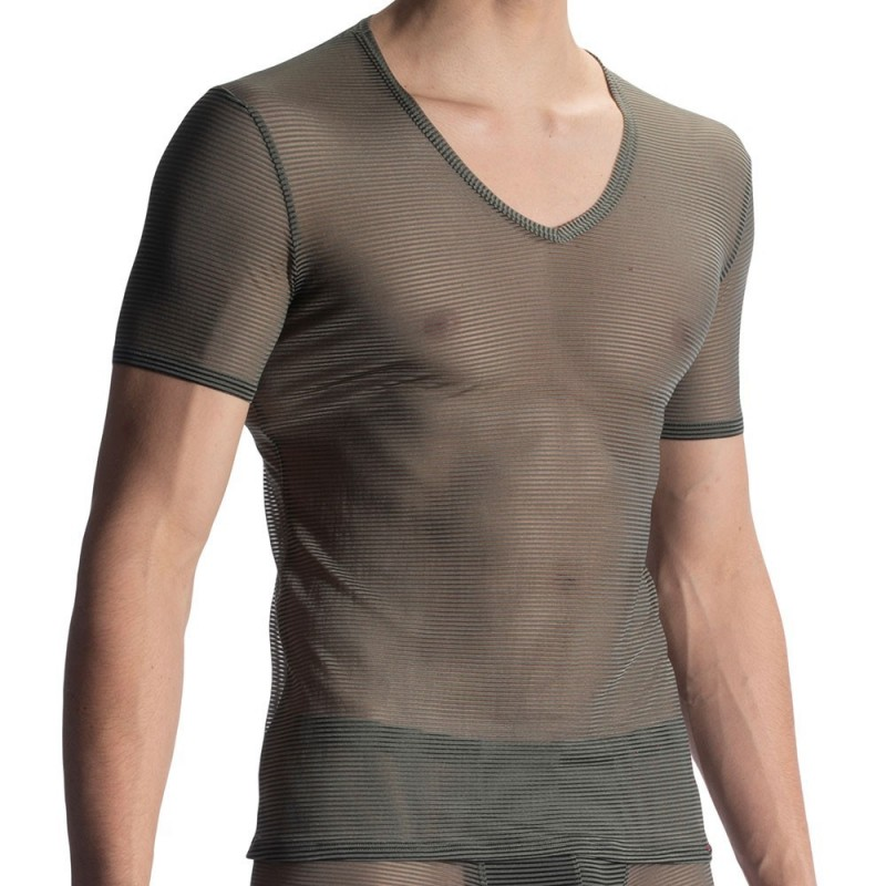 Olaf Benz RED 1906 V-Neck T-Shirt - Olive