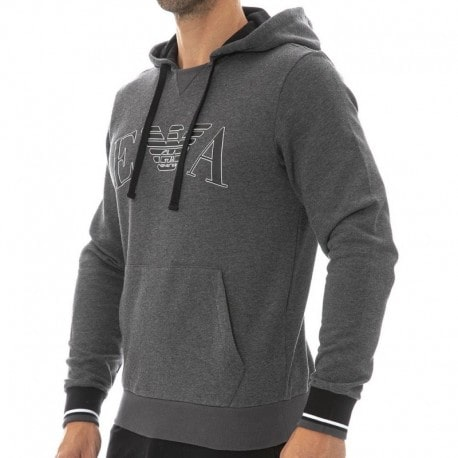 Emporio Armani Sweat-Shirt Iconic Terry Gris
