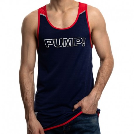 Pump! Academy Tank Top - Navy - Red
