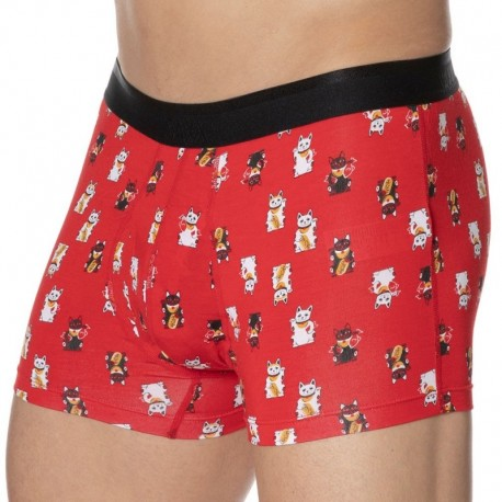 SAXX Platinum Boxer - Red Lucky Cat