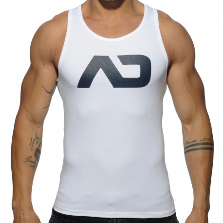 Basic AD Tank Top - White