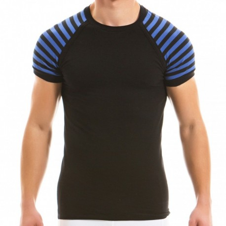 Modus Vivendi T-Shirt Striped Bleu