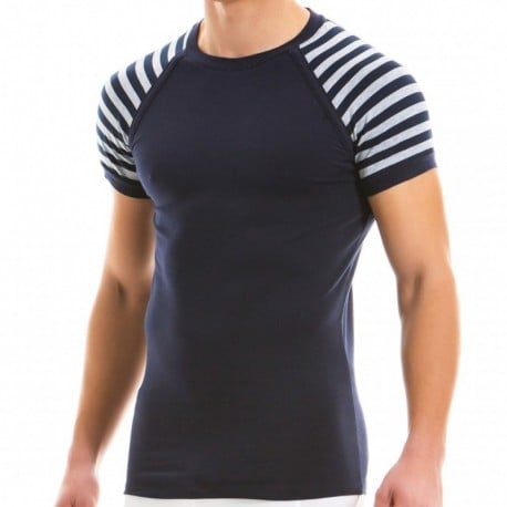 Modus Vivendi T-Shirt Striped Gris