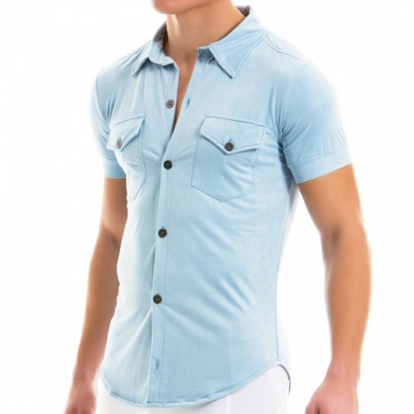 Modus Vivendi Suede Shirt - Light Blue