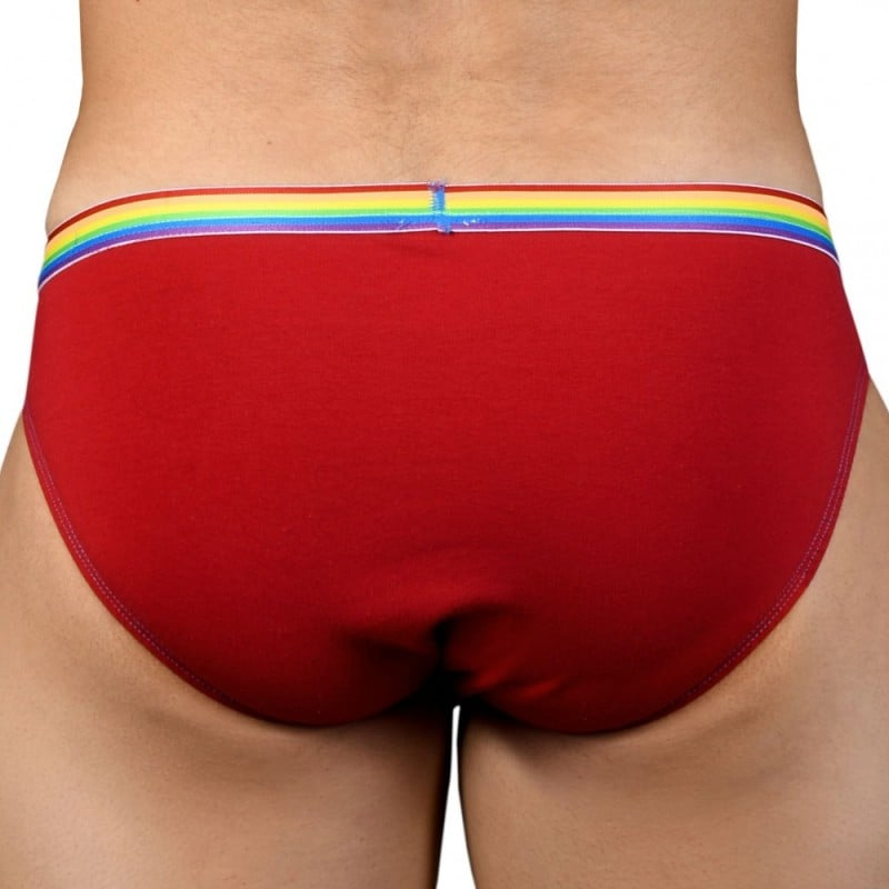 Andrew Christian Lot de 3 Slips Boy Unicorn Almost Naked Rouge - Bleu - Gris