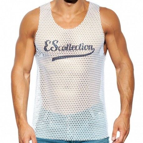 ES Collection Open Mesh Tank Top - White
