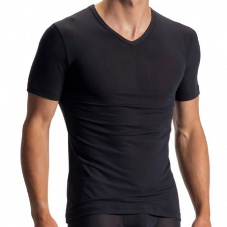 Olaf Benz T-Shirt V-neck RED 1950 Noir
