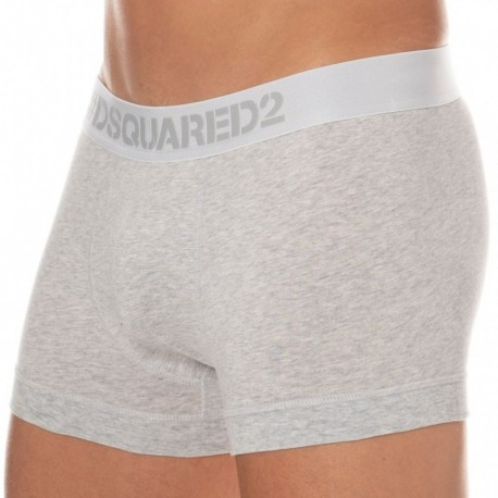 DSQUARED2 Boxer Cotton Stretch Gris Chiné